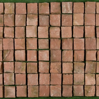 SANDSTONE, AGRA RED, PLACAJ, 10X10, 3, NATURAL