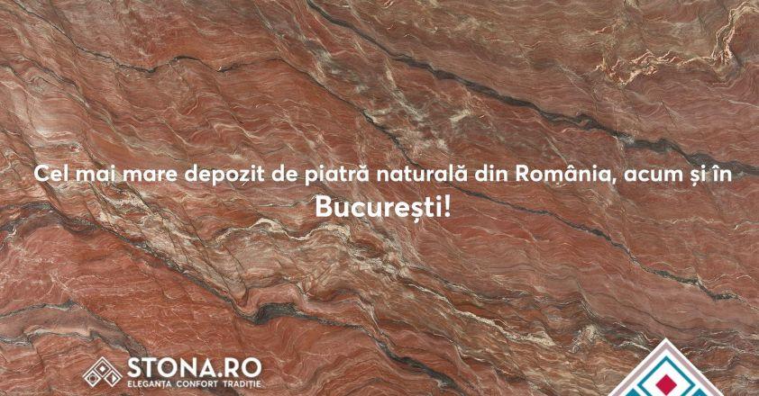 Cel mai mare depozit de piatra naturala din Romania, acum si in Bucuresti