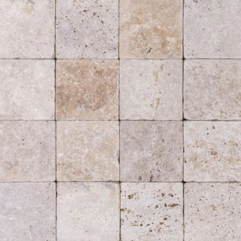TRAVERTIN, RUSTIC C/C, PLACAJ, 15.2X15.2, 3, TUMBLED