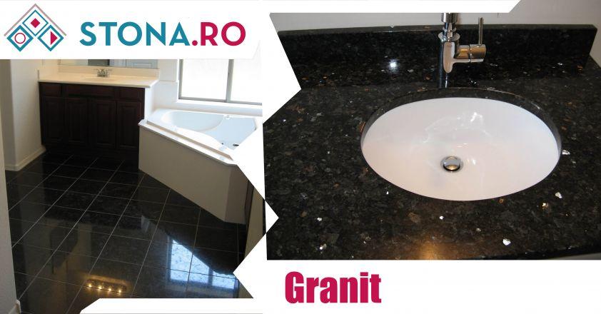 Trei tipuri de granit negru disponibile în magazinul nostru