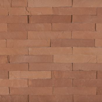 SANDSTONE, AGRA RED, PLACAJ, L(20-40)X7, 2, NATURAL